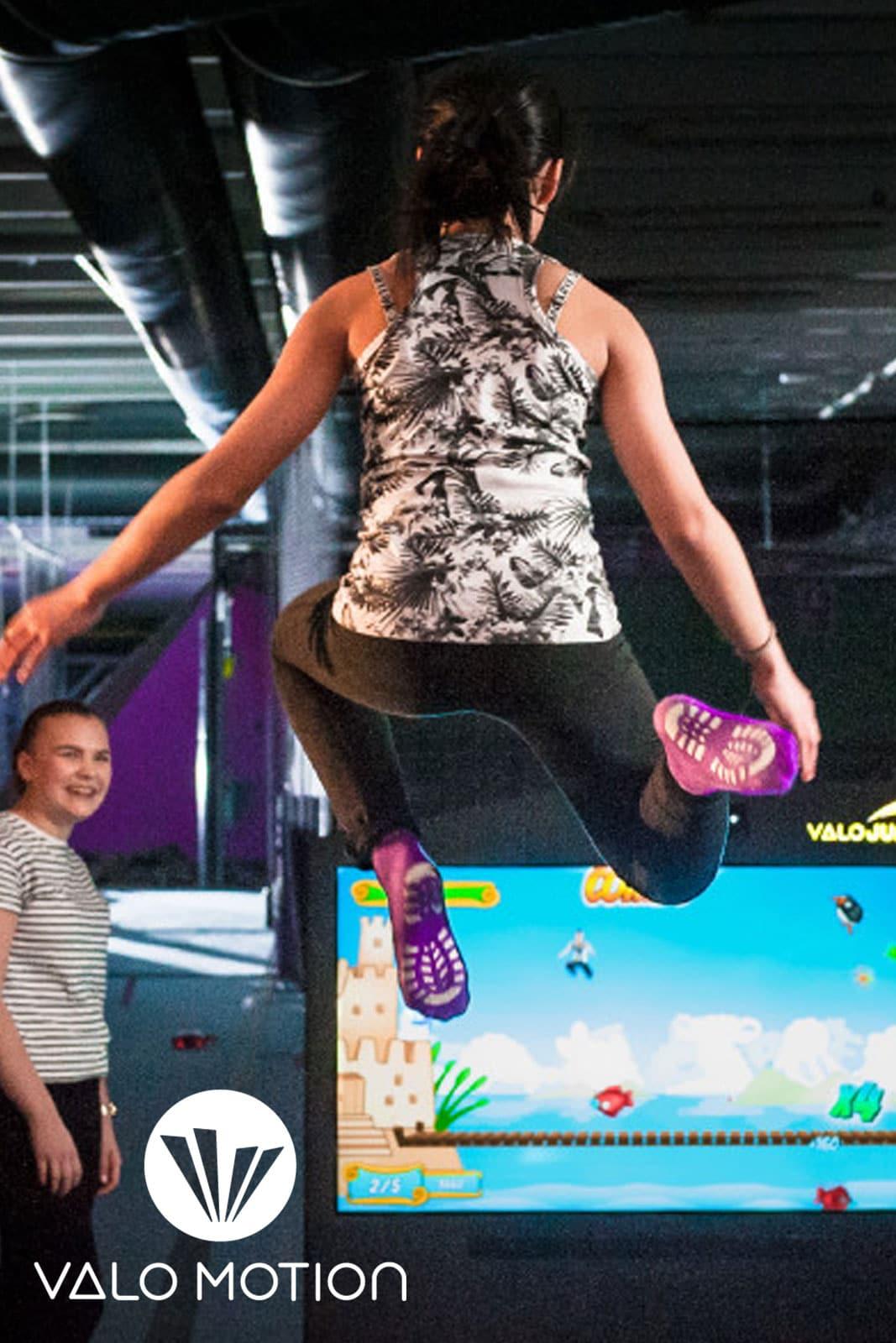 interactive trampoline game valo jump