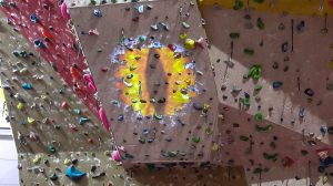video mapping on climbing wall