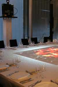 indoor video mapping dinner