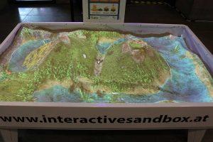 interactive sandbox at bmz open days in berlin