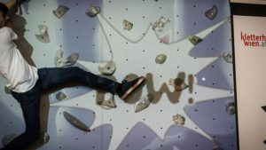 POW - bat gets hit in interactive climbing game on valo climb