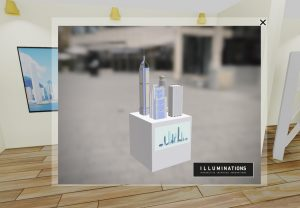 interactive online event 3d object