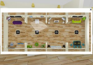 interaktive virtuelle Messe Hallenplan