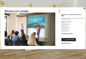 interaktives online event mit videostream